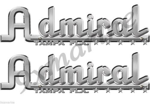 Admiral Boats Vintage Stickers