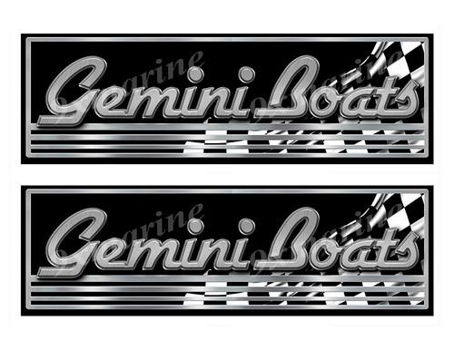 "Gemini Classic Racing 10"" long Stickers"