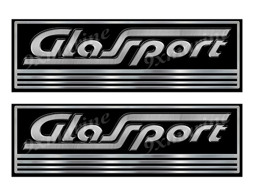 Two Glassport Custom Stickers - 10 inch long set. Remastered Name Plate