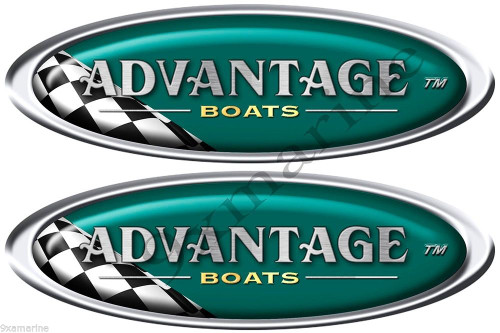 Advantage Boats Oval Vintage Stickers Remastered