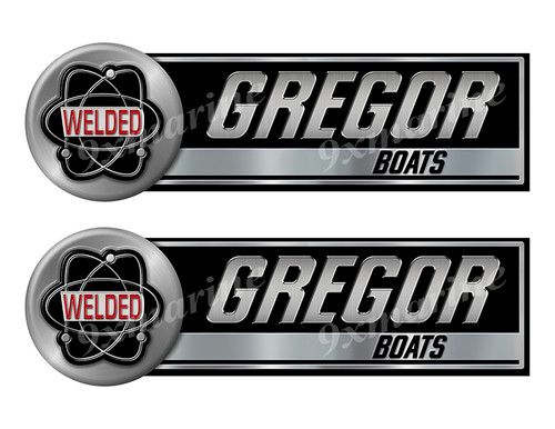"""Two Gregor Welded Classic Stickers - 10"""" long each"""