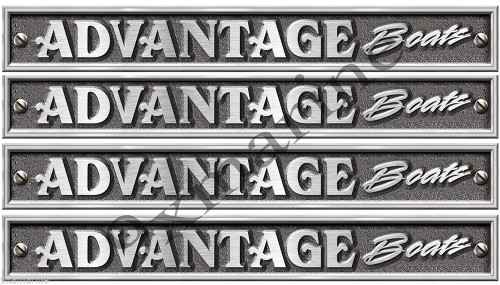 Advantage Boats Classic Vintage Stickers Remastered