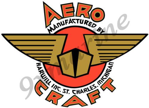 "Aero Craft Boat Sticker. Vintage - 10""X8"" inch long"