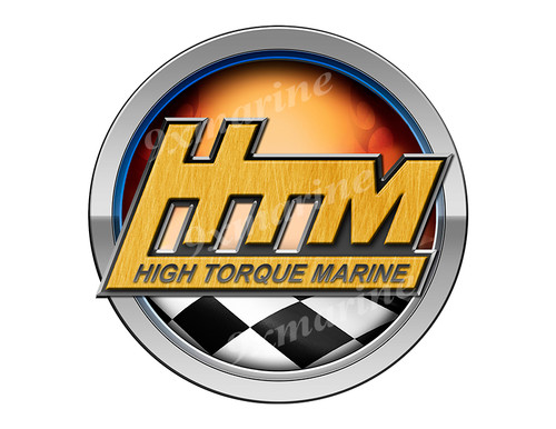 HTM Racing Boat Round Sticker - Name Plate
