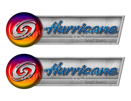 "Hurricane Retro Sticker set - 10""x3"". Remastered Name Plate"