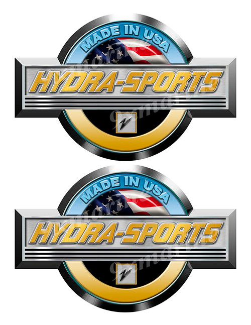 Hydra-Sports Stickers for Boat Restoration. 7.5 inch long each