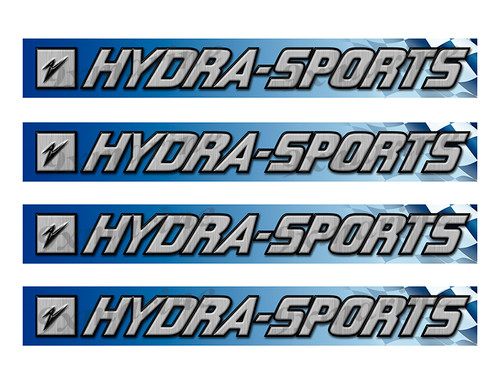 """Hydra-Sports Classic Racing 10"""" long Stickers"""
