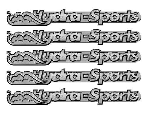 "5 Hydra-Sports Boat Stickers ""3D Vinyl Replica"" of original - 10"" long"