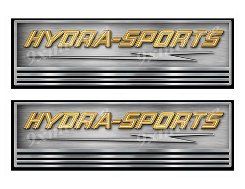 Two Hydra-Sports Boat Stickers. Not OEM