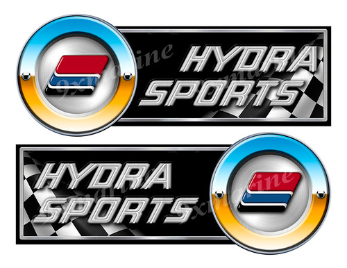"""Hydra-Sports Classic Racing 10"""" long Stickers Left/Right"""