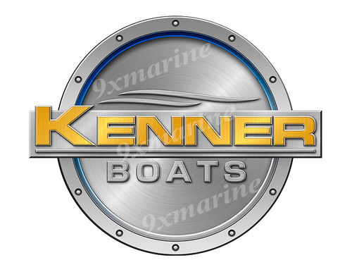 """One Kenner Remastered Sticker. Brushed Metal Style - 7.5"""" diameter"""