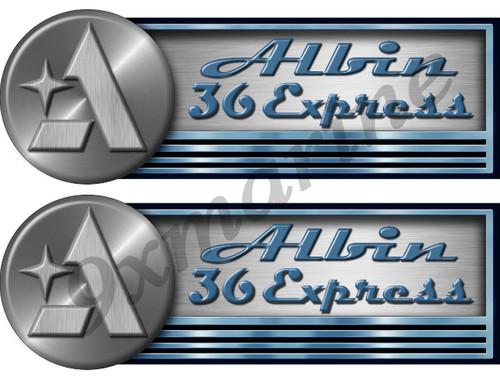 Albin Marine 2 Sticker Model Set. All model names are in stock