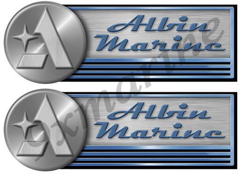 Albin Marine Remastered Sticker Set For Boat Restoration Project