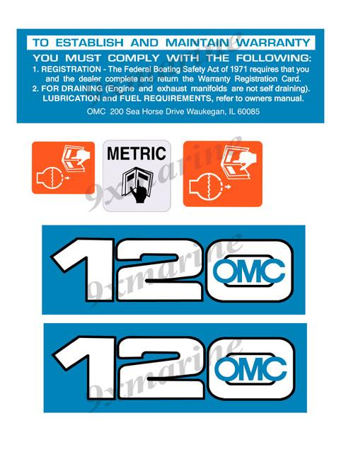 OMC Cobra and King Cobra Remastered Engine Sticker 120