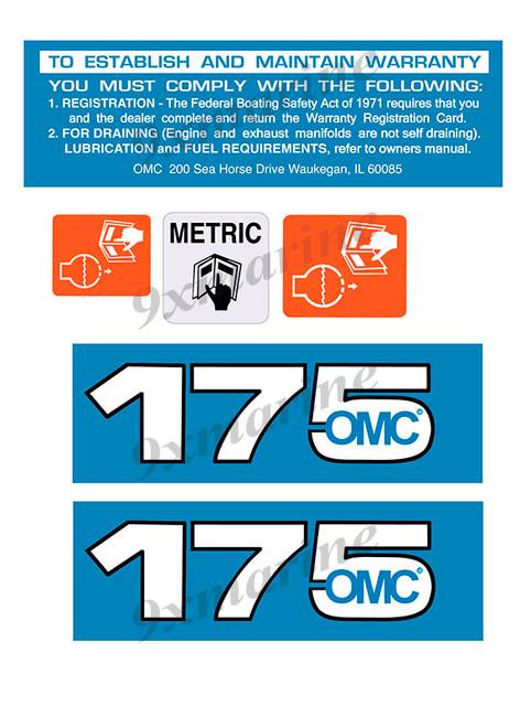 OMC Cobra and King Cobra Remastered Engine Sticker 175