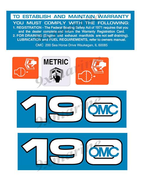 OMC Cobra and King Cobra Remastered Engine Sticker 190