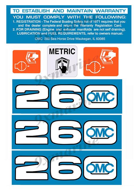 OMC Cobra and King Cobra Remastered Engine Sticker 260