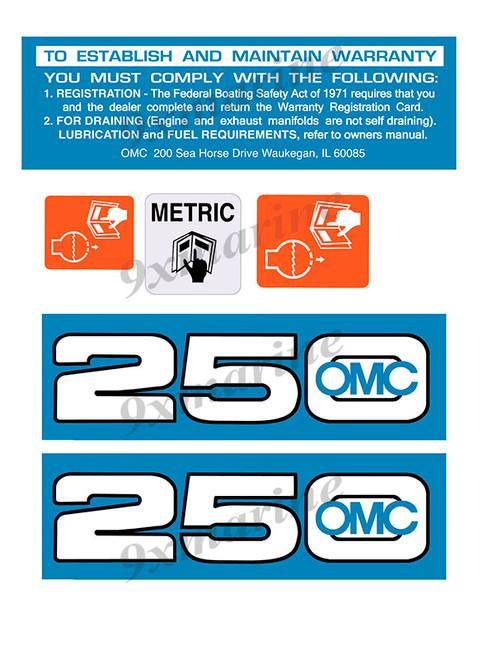 OMC Cobra and King Cobra Remastered Engine Sticker 250