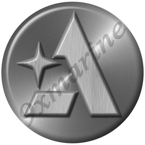 """Albin Marine Remastered Sticker """"Brushed Metal Look"""" for boat restoration"""