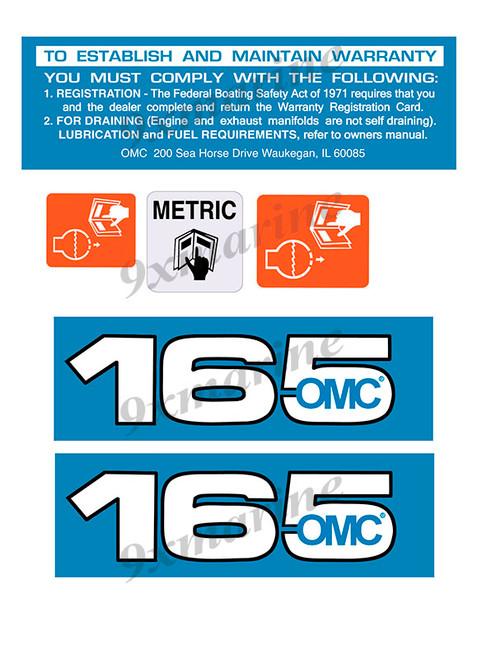 OMC Cobra and King Cobra Remastered Engine Sticker 165