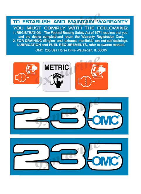 OMC Cobra and King Cobra Remastered Engine Sticker 235