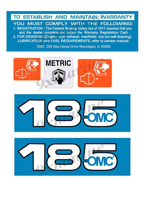 OMC Cobra and King Cobra Remastered Engine Sticker 185