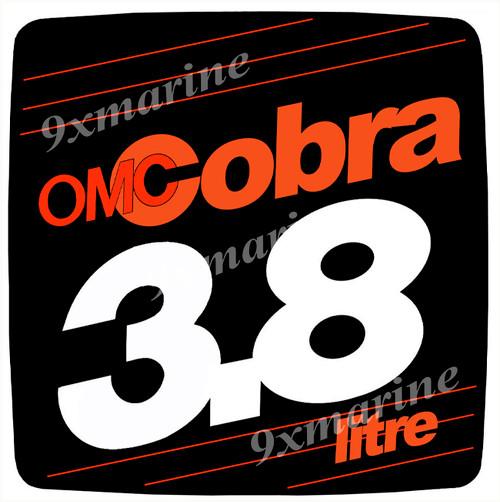 OMC Cobra Flame Arrestor Sticker 3.8 litre