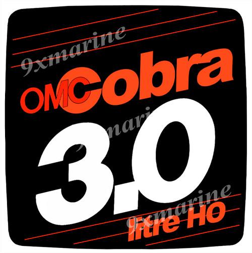 OMC Cobra Flame Arrestor Sticker 3.0 litre HO