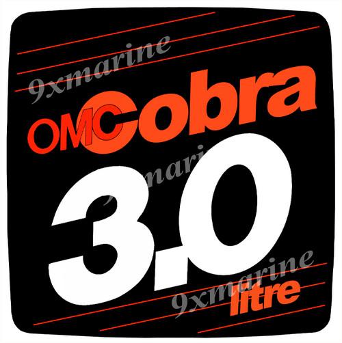 OMC Cobra Flame Arrestor Sticker 3.0 litre