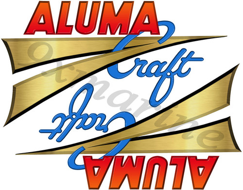 Two Aluma Craft Remastered Stickers 9 inch long set