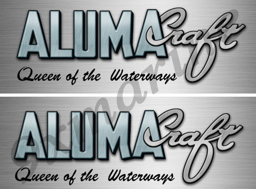 Two Aluma Craft Remastered Stickers 10 inch long each