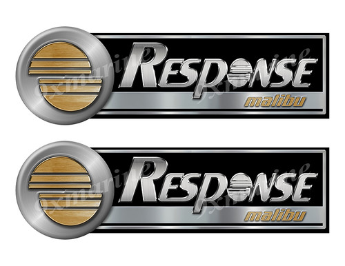 Response Custom Stickers - 10 inch long set. Remastered Name Plate