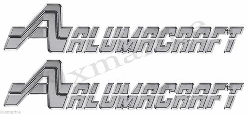 Two 16 inch Aluma Craft Remastered Sticker Set Die-Cut