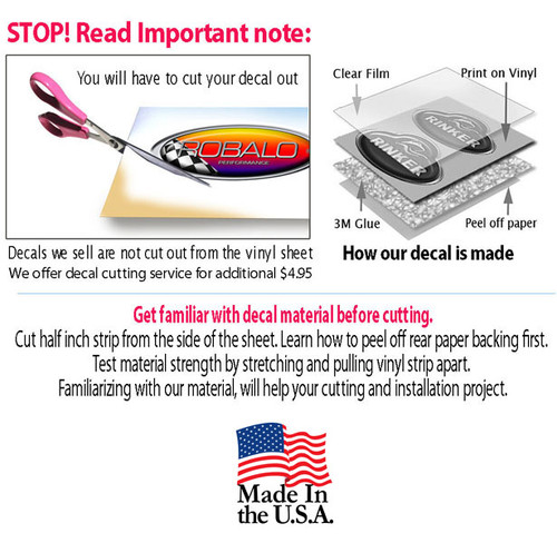 Two American - Marc Boat Restoration Sticker Set