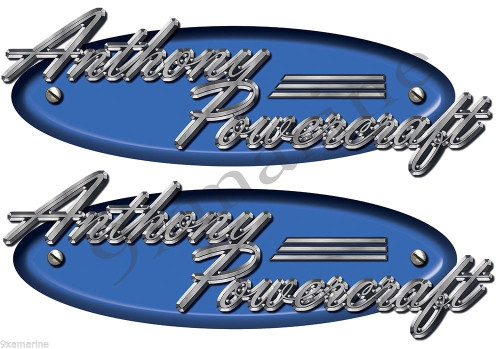 Anthony Powercraft Boats Classic Vintage Stickers Remastered