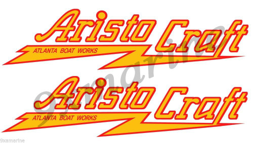 Two Aristo Craft Color Stickers for wooden boat restoration project. Not OEM