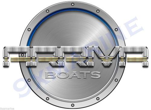"Arriva 7""x9"" Designer Round Sticker. Not OEM. Flat Vinyl Waterproof"