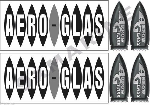 Arrow Glass Sticker Set