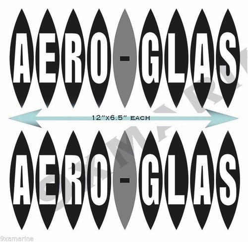 """Two Arrow Glass Stickers OEM Set. 12""""x6"""" each"""