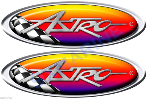 Two Astro Boat Oval Racing Stickers