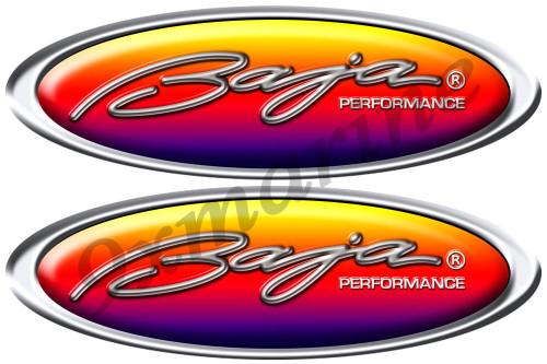 Two Baja Oval Stickers