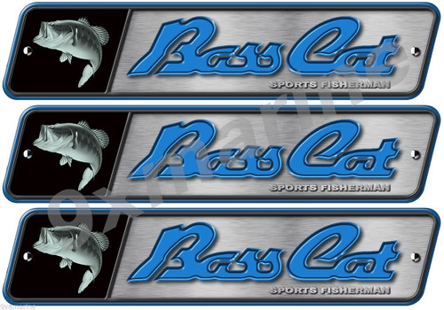 3 Bass Cat Boats Classic Vintage Stickers Remastered