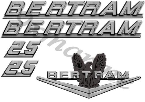 "Bertram 16"" Boat Restoration Sticker Set"