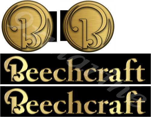 """Two Beechcraft Boat Company Remastered Sticker Set. Left/Right 14"""" long 2-parts"""