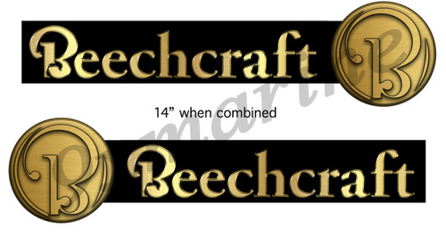 "Two Beechcraft Boat Company Remastered Sticker Set. Left/Right 14"" long 2-parts"