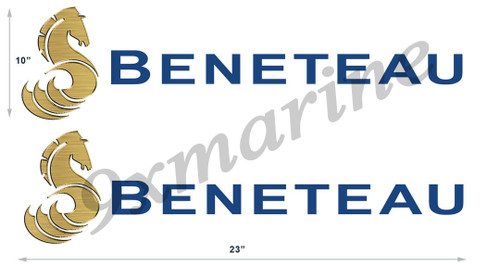 """Two Beneteau Stickers 23"""" inches long"""