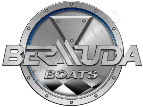 Bermuda Racing Boat Round Sticker - Name Plate