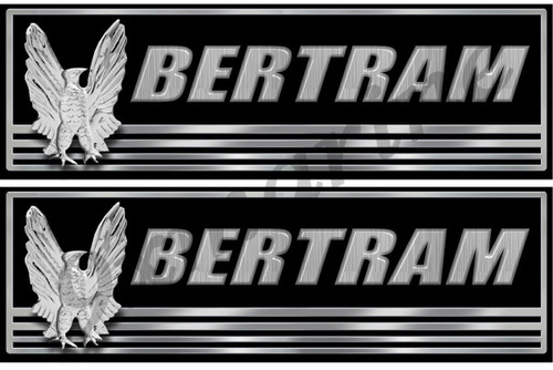 "Bertram 10"" Classic Boat Restoration Sticker Set"