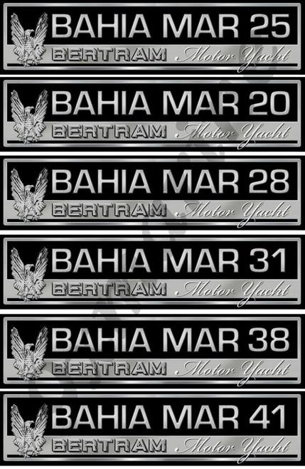 "Bertram Bahia Mar 10"" Boat Restoration Sticker Set"
