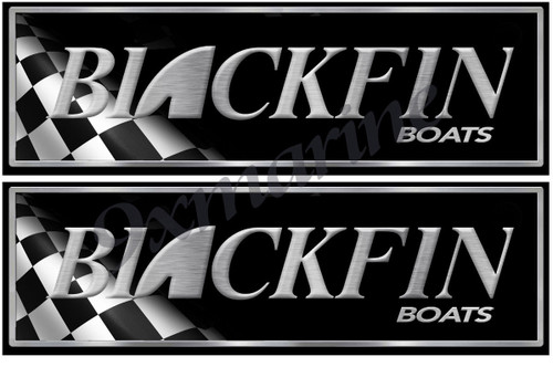 Two Blackfin Boat Race Stickers for Restoration Project